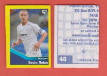Bolton Wanderers Kevin Nolan 40 BBL